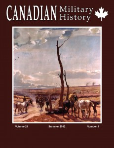 Canadian Military History cover, Summer 2012 issue