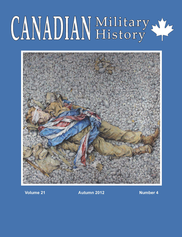Cover Autumn 2012 canadian military history, autumn 2012 volume 21, no 4