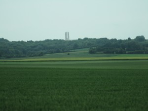Vimy Monument from the drive up