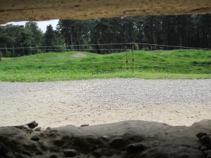 The view from inside the pillbox