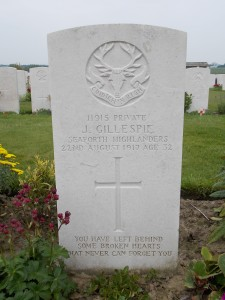 Located in Tyne Cot cemetery