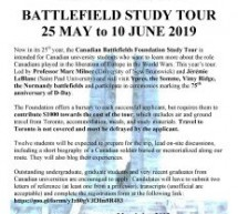 CBF 2019 Battlefield tour poster and application is OPEN!